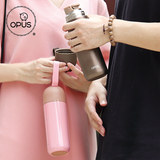 opus mug girl heart student Korean version of portable fashion cute cat cute simple creative stainless steel water cup