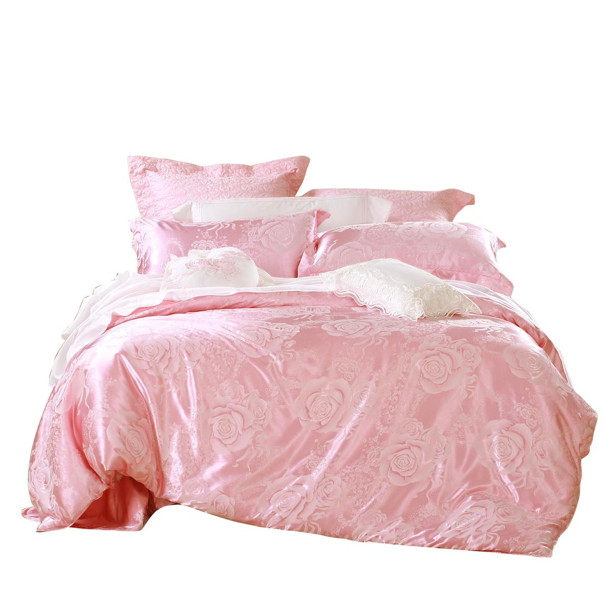 百丽丝家纺欧式提花四件套床上用品结婚被套1.8m床床单被套床品