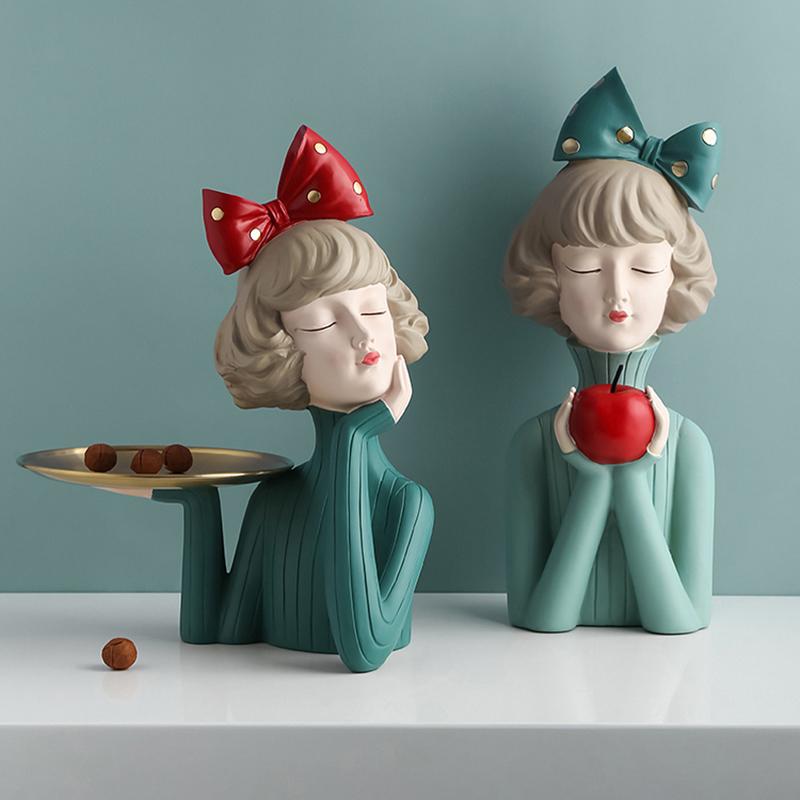 女生日礼品桌面装饰摆件 蝴蝶女孩家居可爱少女心泡泡女孩 态生活