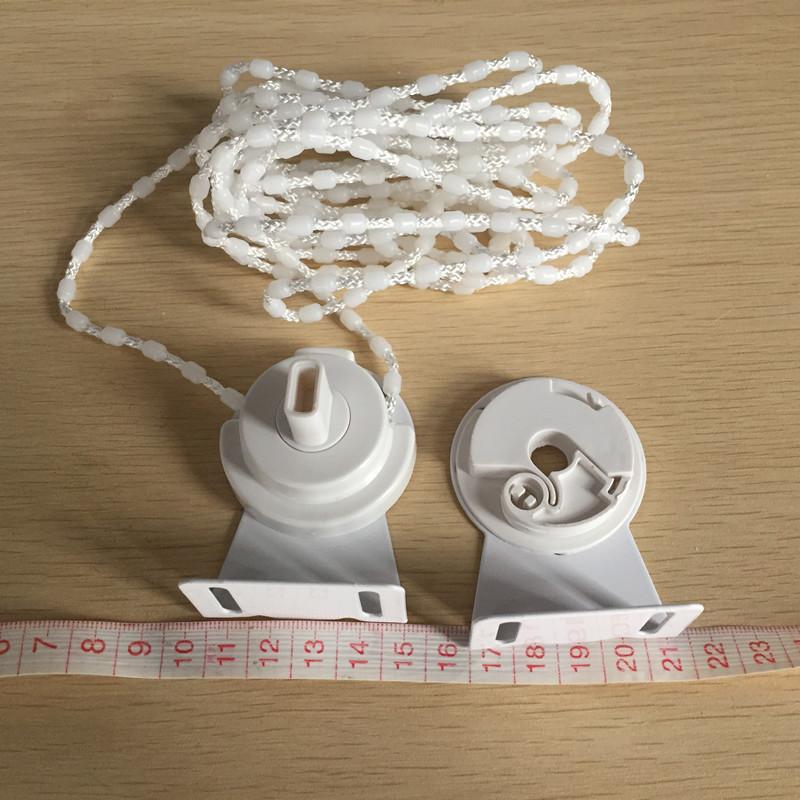锦如春窗帘配件28mm卷帘拉珠制头38mm支架铁头家居办公工程卷帘头