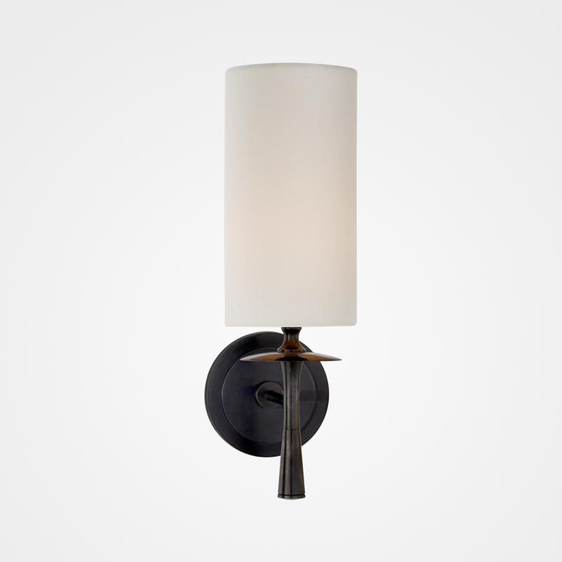 后现代全铜壁灯轻奢布艺客厅卧室床头灯过道壁灯 月新品 9
