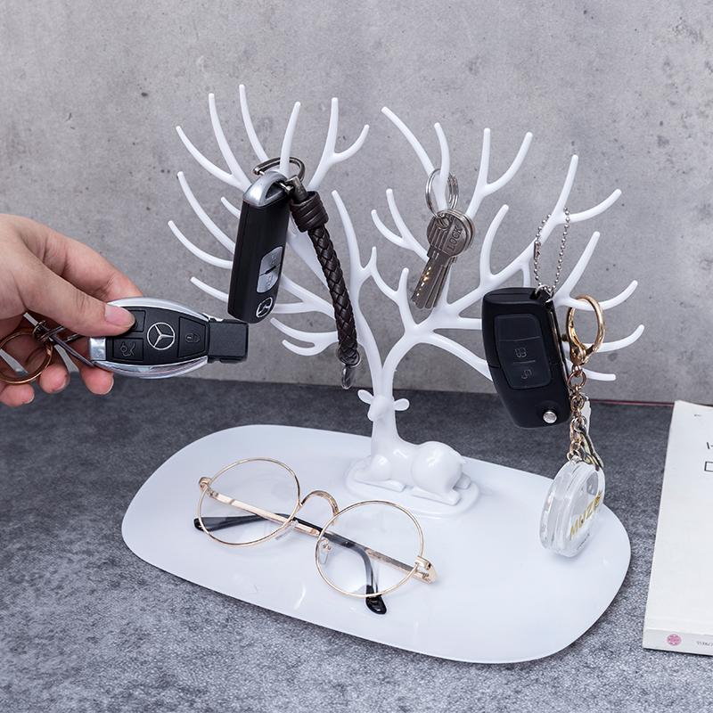 聚可愛 耳環展示架桌面耳飾手飾品收納盒掛項鏈耳釘耳墜首飾盒