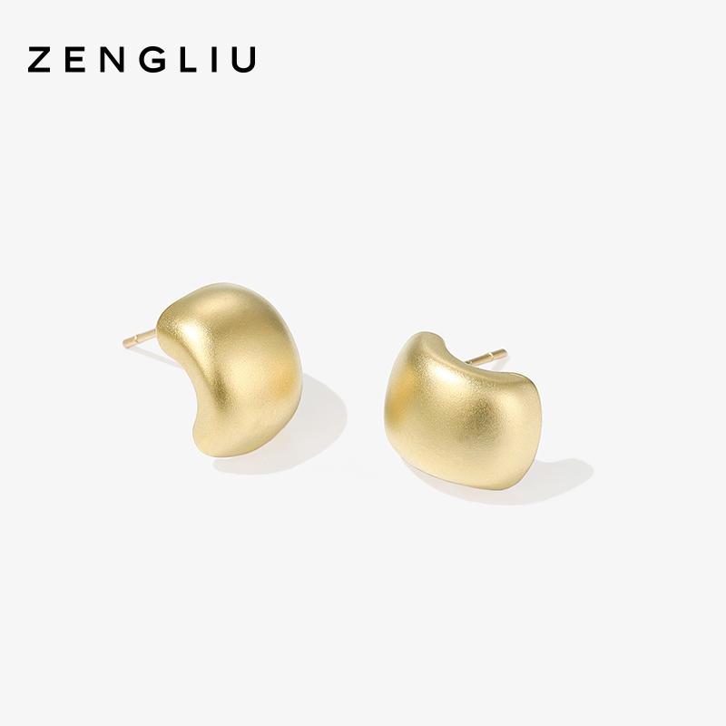 新款潮 弧形耳钉简约冷淡风女气质小巧耳环银针耳饰品  ZENGLIU 2019