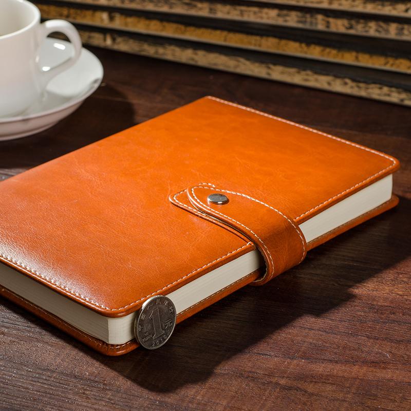 博文皮面商务记事本文具办公会议记录笔记本随身日记本工作本定制