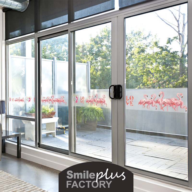 浴室玻璃贴纸推拉门个性创意卫生间防撞贴厨房玻璃门窗装饰腰线贴 No.3