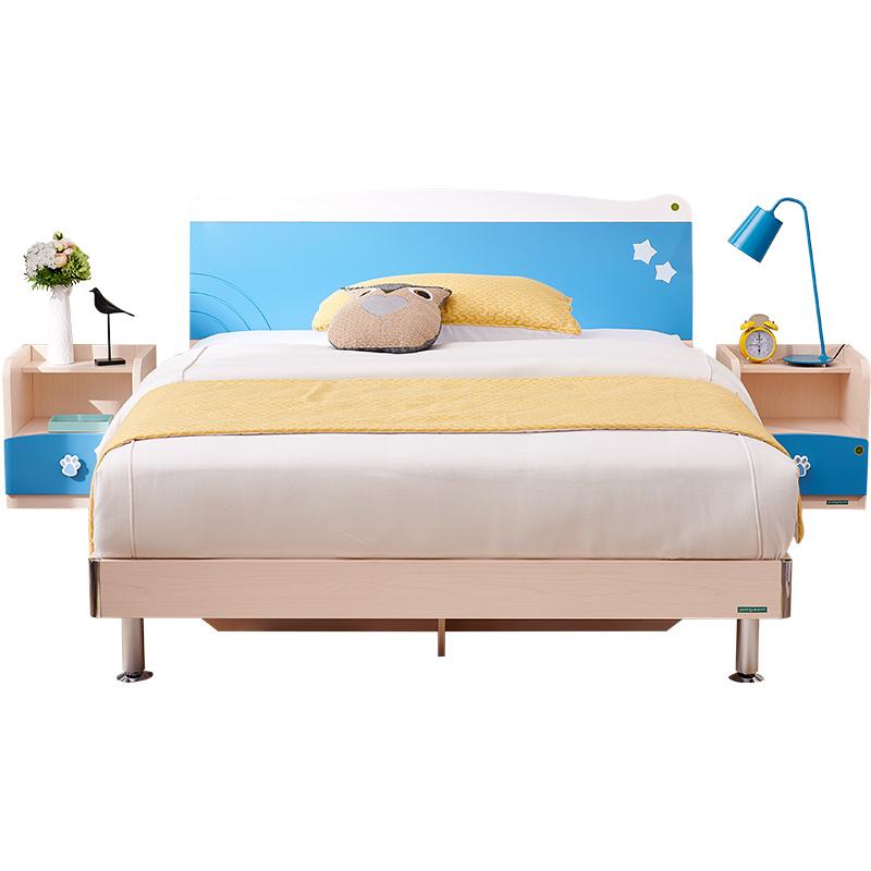 全友家私卧室青少年家具套装 单双人床衣柜书桌架组合106207