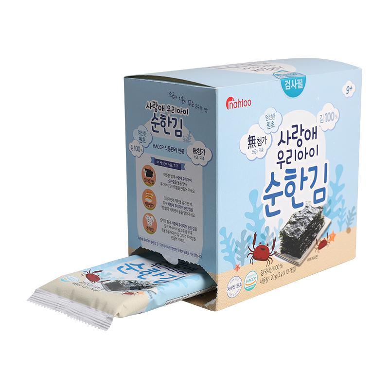 韩国进口那都无盐儿童海苔零食