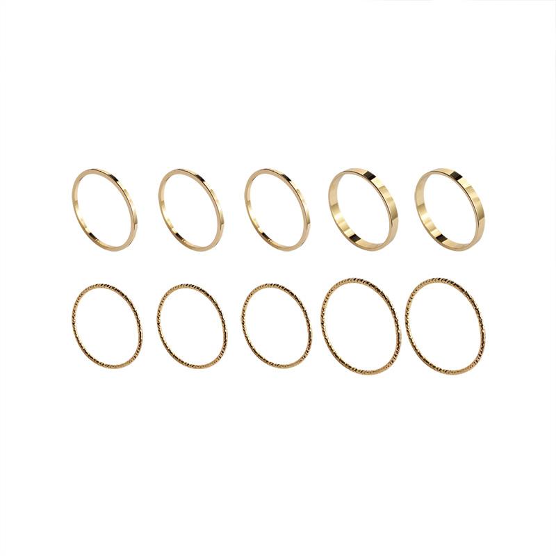 超细戒指简约关节尾戒小指学生食指戒套装组合韩版指环女时尚个姓