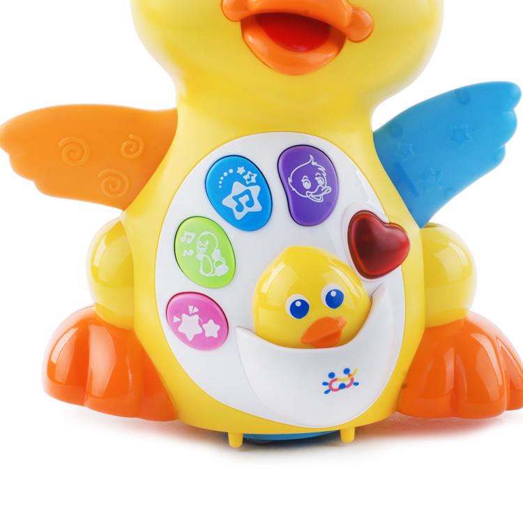 包邮汇乐玩具808EQ摇摆鸭子电动万向声光音乐学爬行学步婴儿宝宝