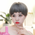 Wig female short hair dog chewing natural lifelike temperament round face shaved face fluffy net red Korean bobo hairstyle bobo head