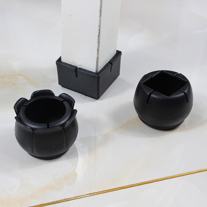 加厚黑色椅子脚套桌腿桌脚桌子凳子保护套凳脚套耐磨防滑家具脚垫