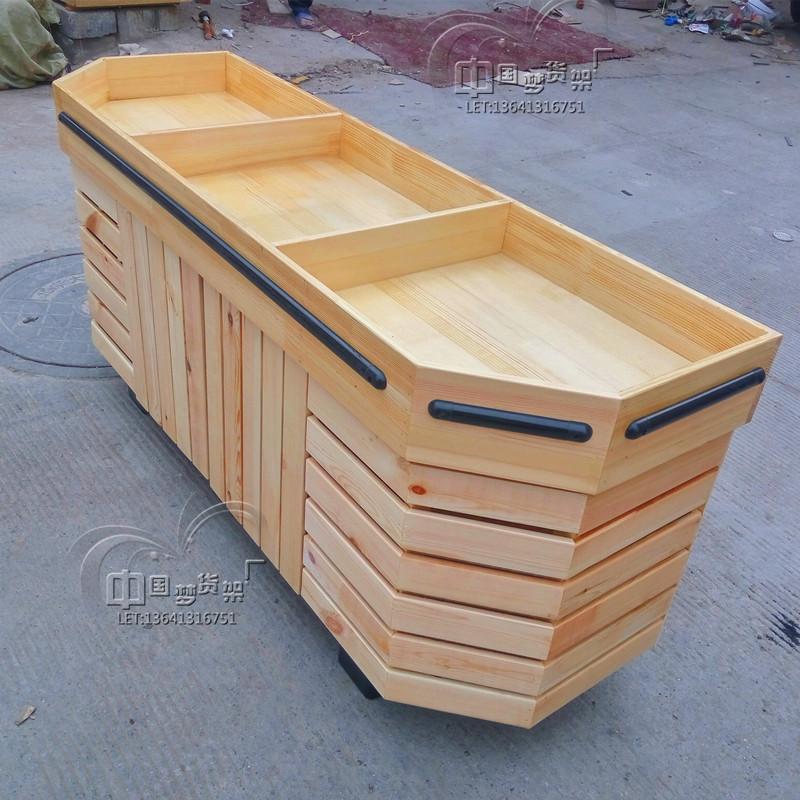 定做水果店货架实木干果货柜超市散货展柜水果平台水果货架堆头