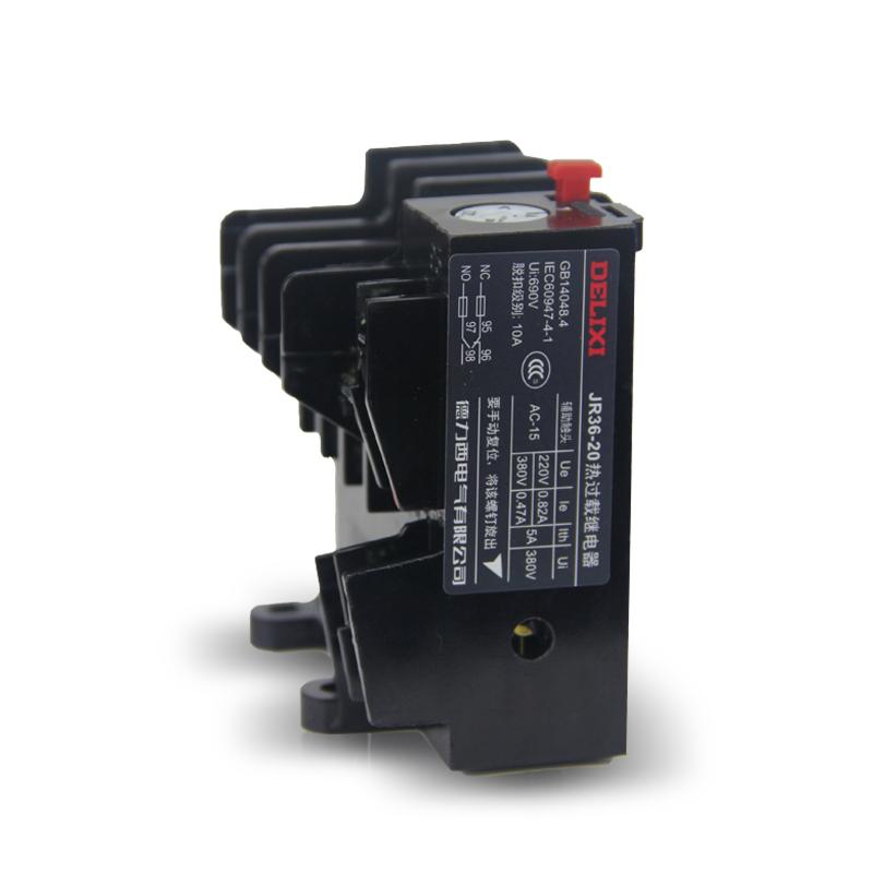德力西热继电器 过载保护 热过载继电器热保护继电器JR36-20 nr2