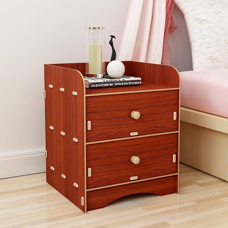 简易宿舍小型特价储物柜子收纳实木纹迷你卧室床边简约现代床头柜