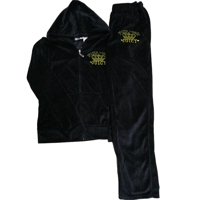 天天特价刺绣金丝天鹅绒运动服套装女秋冬长袖卫衣显瘦时尚两件套