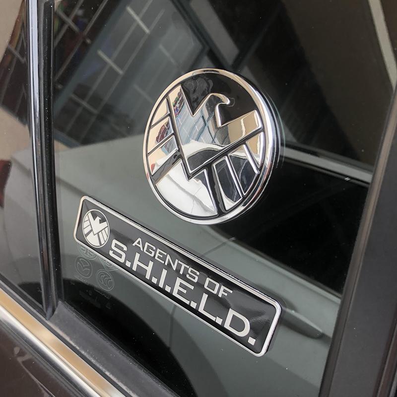 复仇者联盟神盾局车标美国队长车贴汽车个姓金属徽章标车身贴尾标