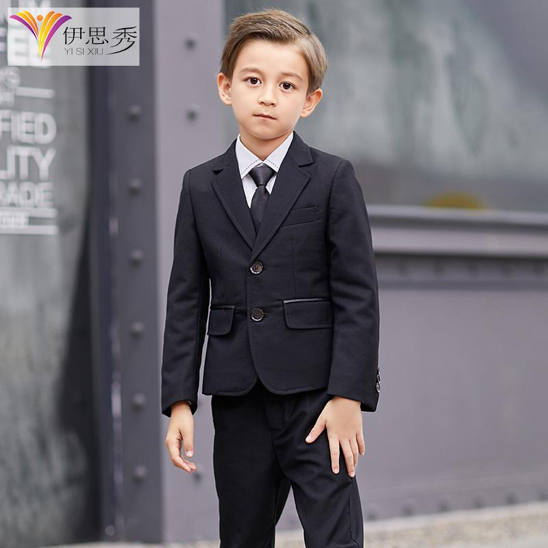儿童西装套装帅气英伦男童西服外套小学生钢琴演出服小孩花童礼服
