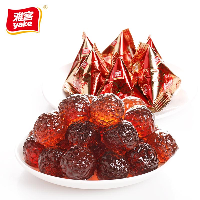 【99减40】雅客枣生贵子软糖500g特产红枣味零食婚庆喜糖果约42粒