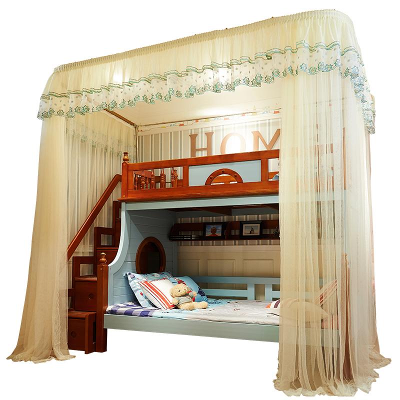 北极绒儿童子母床蚊帐学生宿舍寝室1.0上下铺1.2米床1.5m双人家用