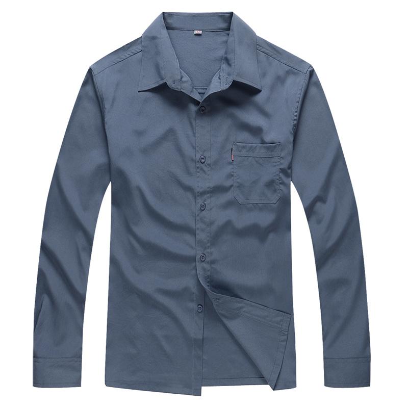 夏季薄款中老年人男士肥佬长袖衬衫加肥加大码男装爸爸装胖子衬衣