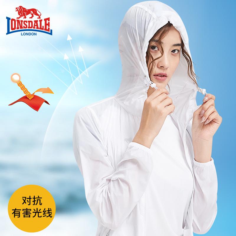 龙狮戴尔新款防晒衣女短款超薄透气运动风衣夏季户外速干皮肤衣男