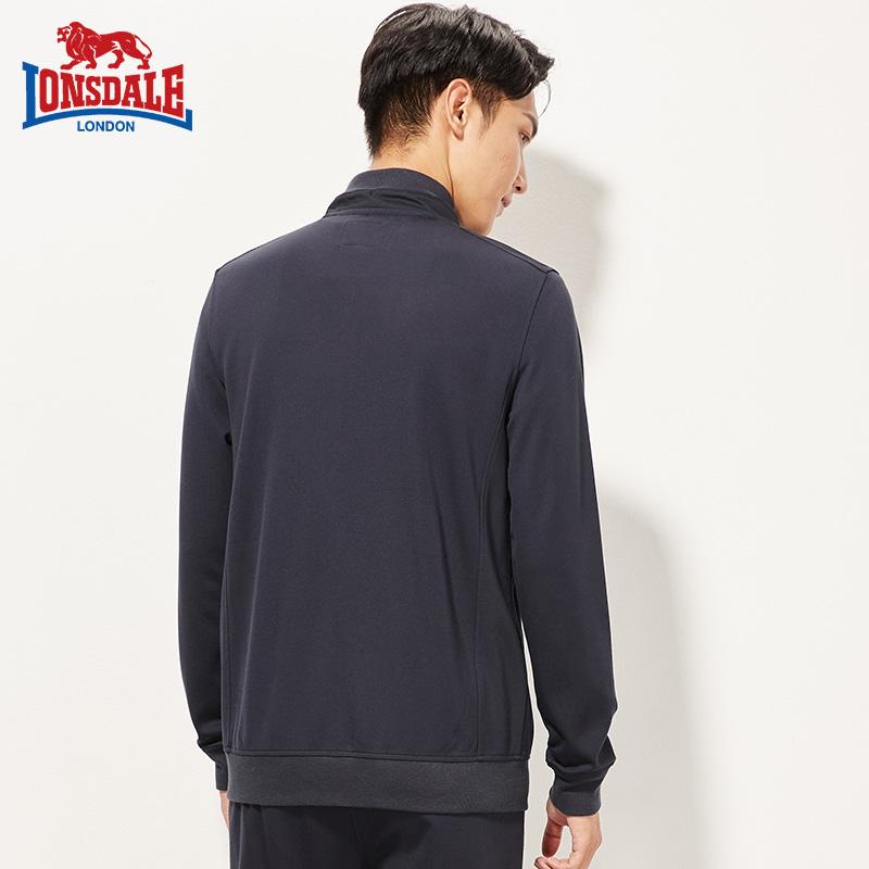 龙狮戴尔2019春季新款男针织夹克上衣休闲宽松韩版卫衣外套青年潮