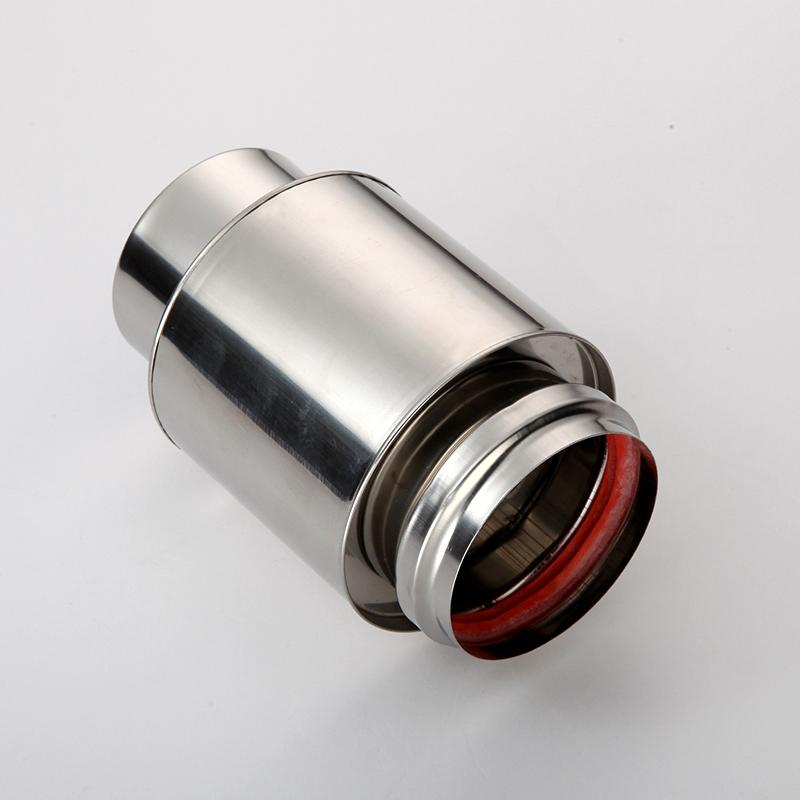 斐格燃气热水器排烟管排气管加厚304不锈钢6cm加长烟道管烟管配件