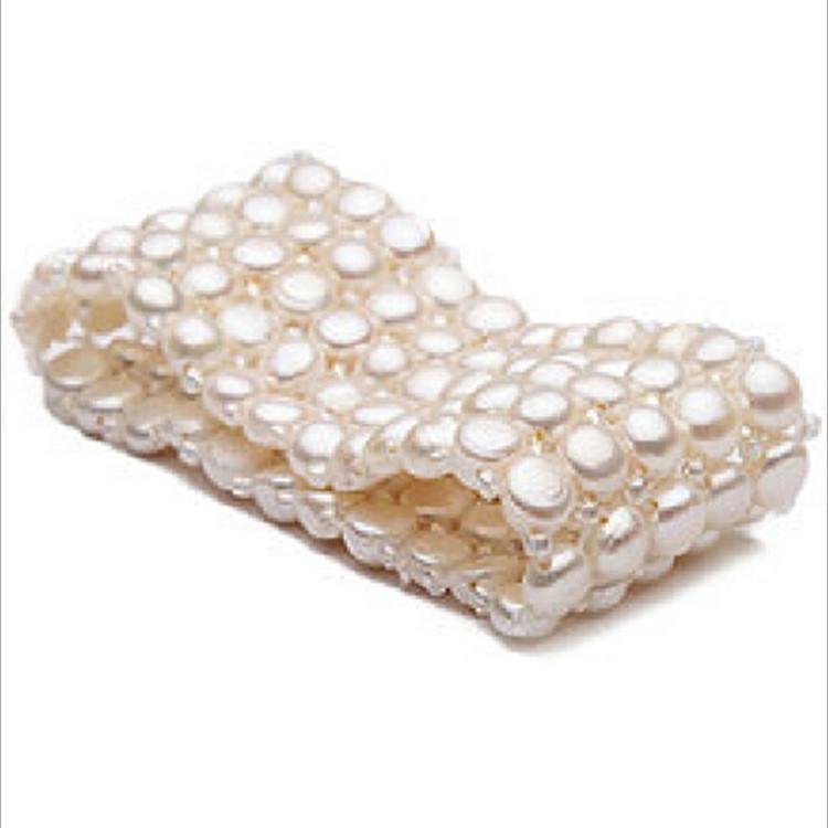 真品 淡水珍珠多排松紧手链明星款韩版多层有弹力时尚珍珠手链