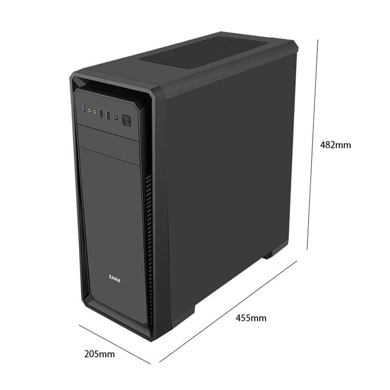 先马塞恩1电脑机箱台式机水冷ATX中塔亚克力大侧透防尘游戏主机箱