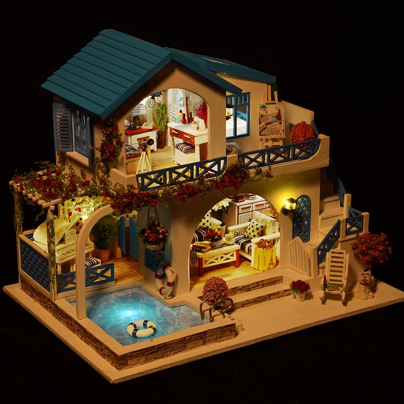 那家定制 diy小屋手工创意成品拼装模型娃娃屋生日抖音同款礼物
