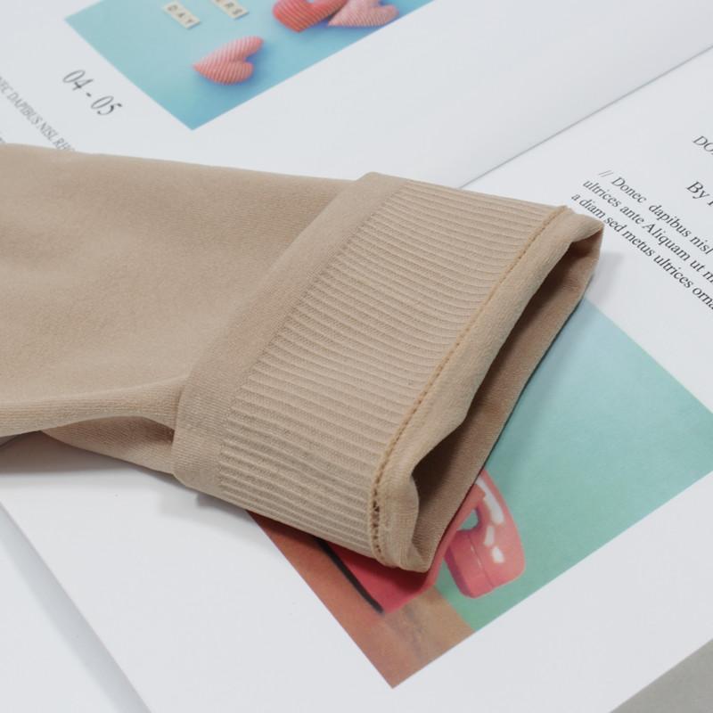 双春秋天鹅绒丝袜女短中厚防勾丝厚款黑肉色透气短筒袜子对对袜 10