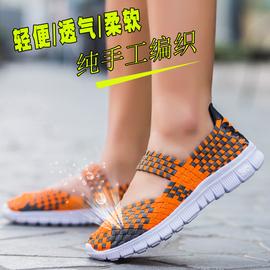 春季透气网鞋手工编织鞋韩版休闲女鞋中老年妈妈鞋老北京布鞋凉鞋