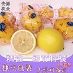[安源农业]]安岳柠檬新鲜水果优质一级黄柠檬5斤包邮大小可选非青