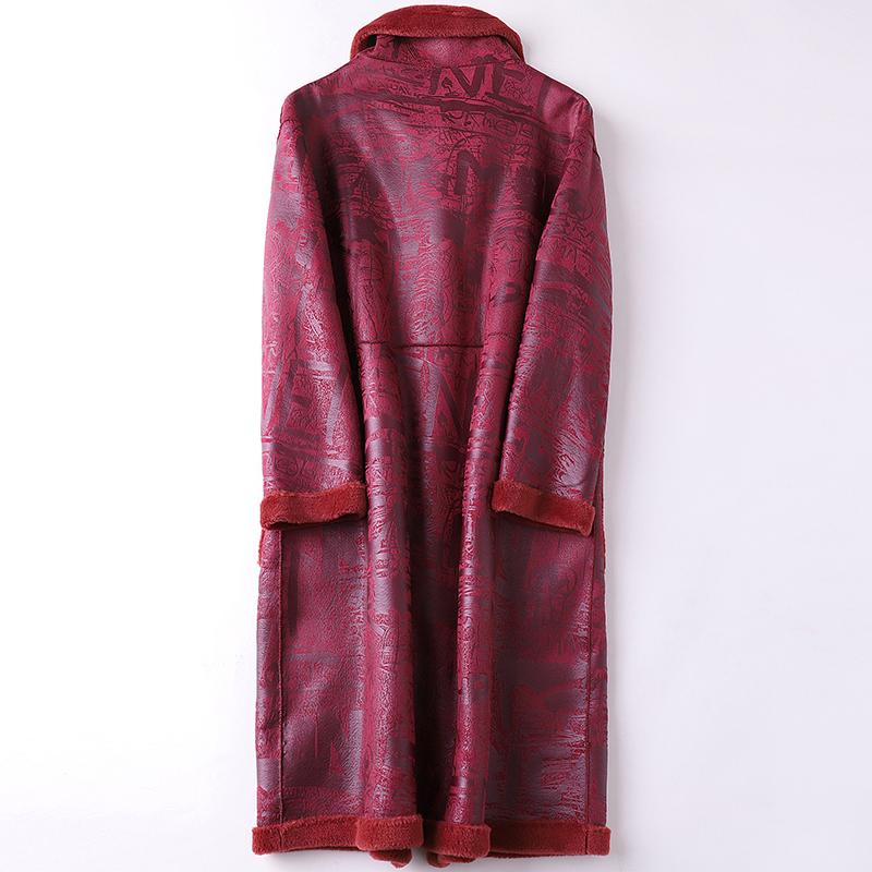 帕波仕蒂2019反季海宁羊毛皮草大衣羊剪毛长款时尚两面穿女式外套