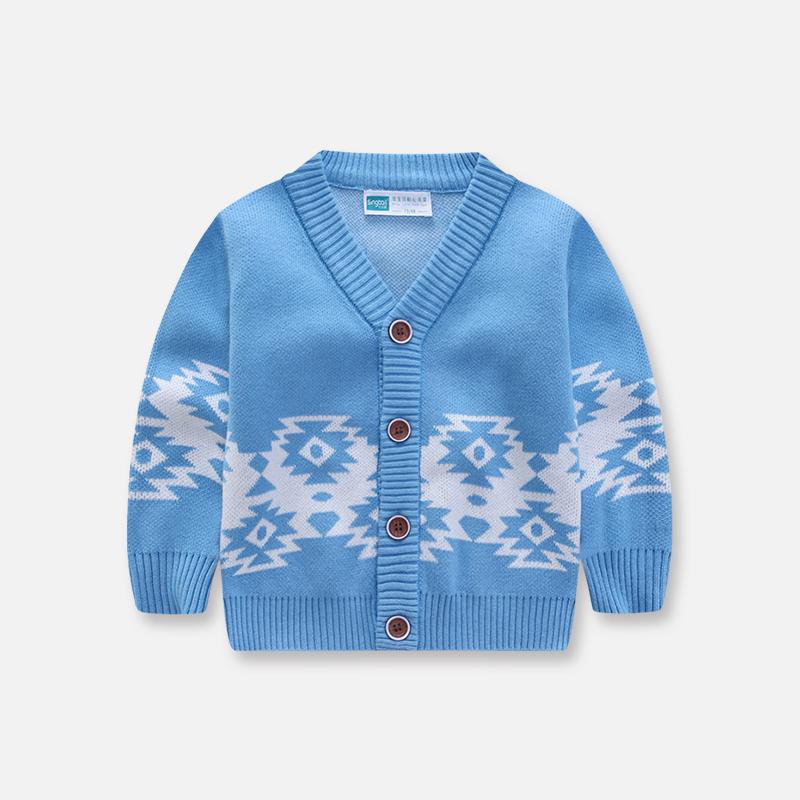 男童毛衣纯棉中大童开衫上衣女童V领针织衫儿童装春新款宝宝外套