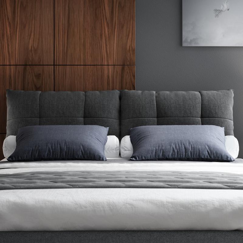米现代简约结婚布床主卧包邮 1.5 北欧布艺床小户型双人床可拆洗