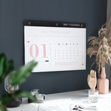 2020 calendar ins wind plan table creative Nordic simple home wall-mounted lattice check punch record
