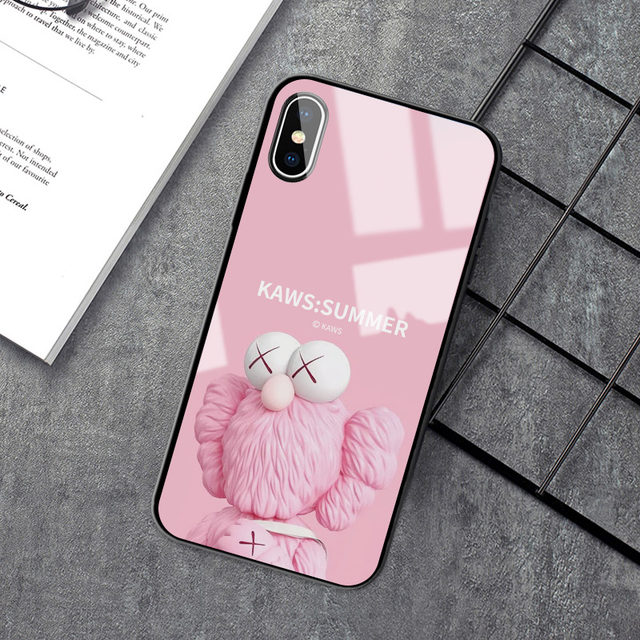 iPhone11 mobile phone shell Sesame Street 11promax apple 12 apple 11 cartoon 12mini glass x cute xr tide brand kaws couple 7/8/6splus fun xs max men and women