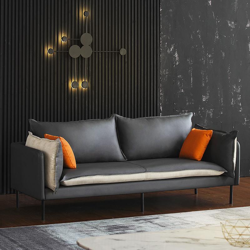 三人科技布小空间沙发