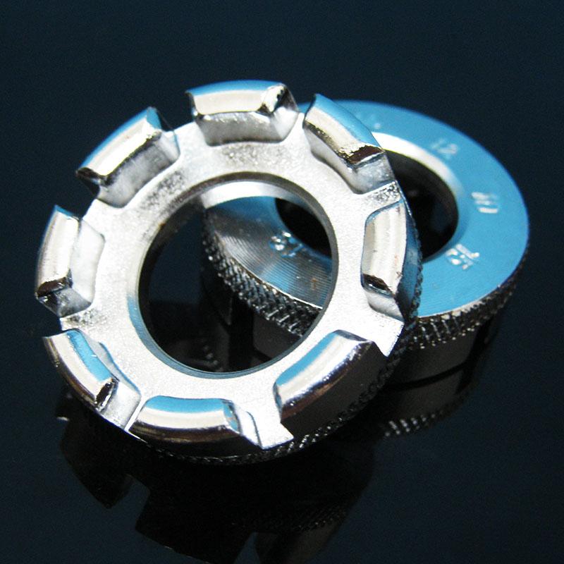 自行車輻條扳手 山地車鋼絲扳手 編輪組調圈工具 八口銀色款