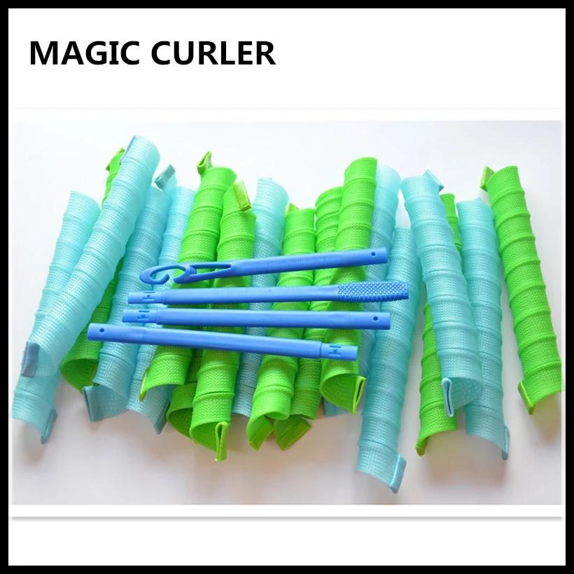 新款75CM超长20根不伤发魔法卷发棒家用波浪造型塑料大卷发器神