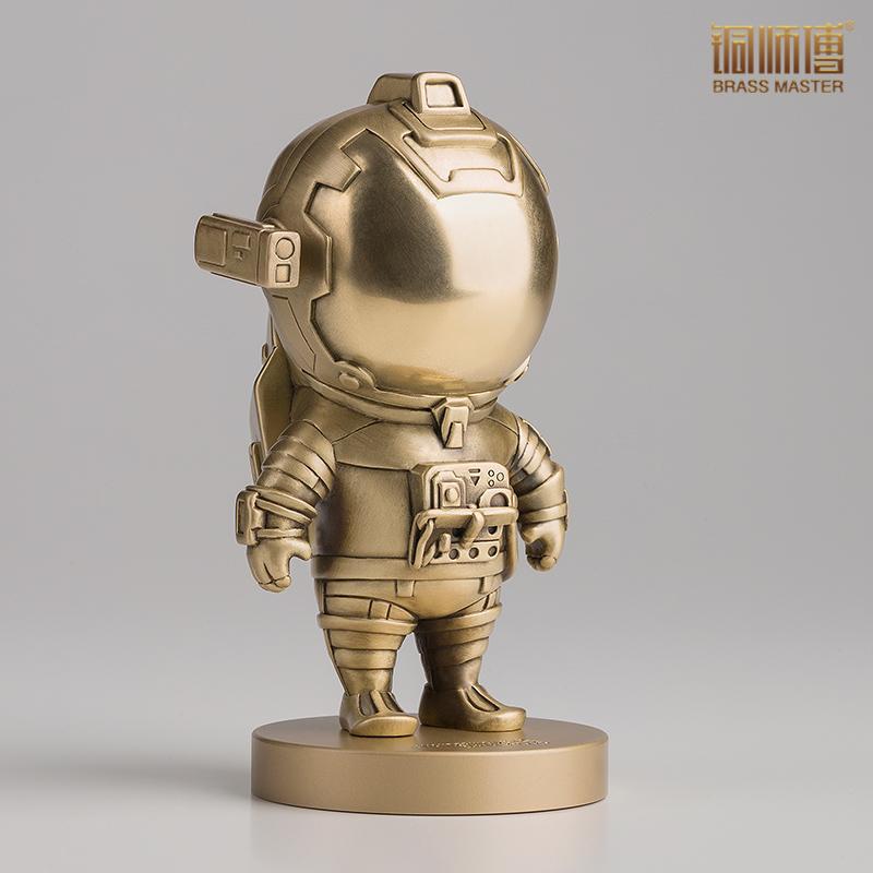家居装饰品流浪地球周边 全铜摆件 萌版宇航员 流浪地球 铜师傅