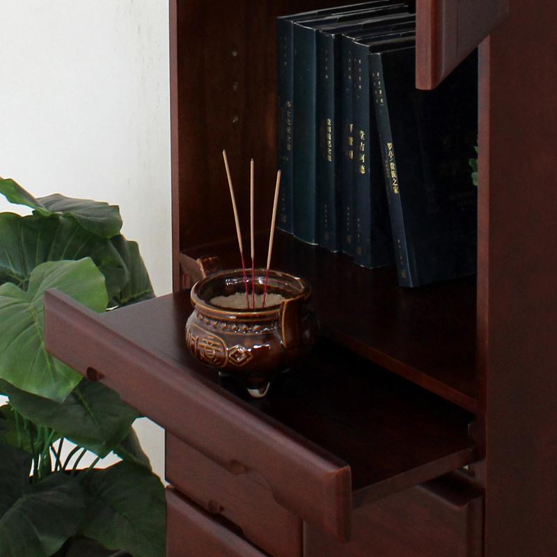 实木佛龛立柜办公室供奉财神柜多功能文件柜佛柜带门书房神台柜