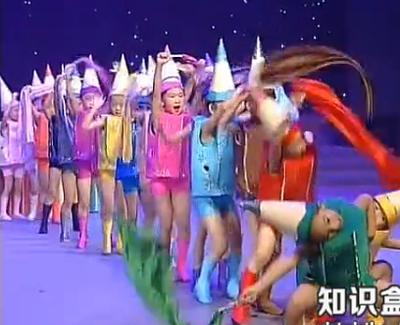 新款六一儿童小荷风采舞蹈服男女童七彩画笔演出服表演服套装夏季