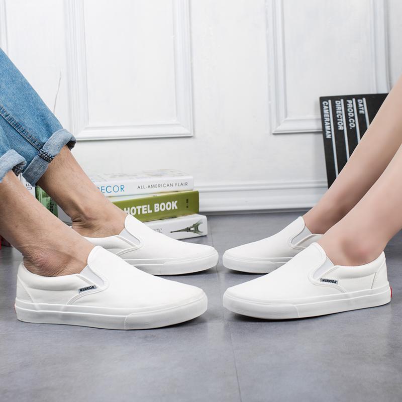 回力一脚蹬女鞋布面百搭小白鞋男懒人鞋休闲鞋低帮学生平底鞋韩版