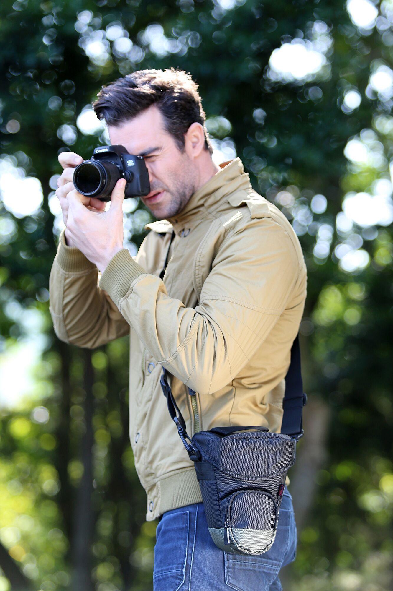 JJC单反相机三角摄影包单肩佳能70d 700d 750d 760D 6d尼康D7100