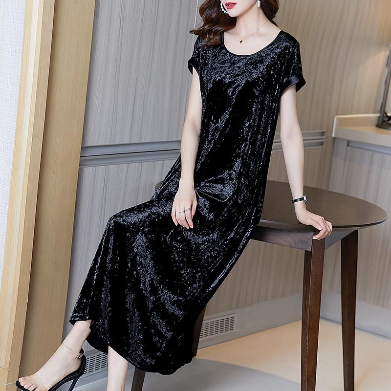 黑裙高贵洋气长裙裙子