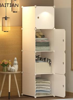 简易衣柜布艺组装收纳柜子出租房塑料实木挂家用卧室现代简约衣橱