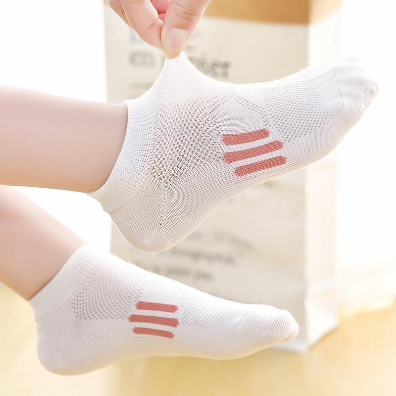 儿童袜子纯棉春秋薄款船袜男童女童夏季网眼袜中大童小孩短袜夏天