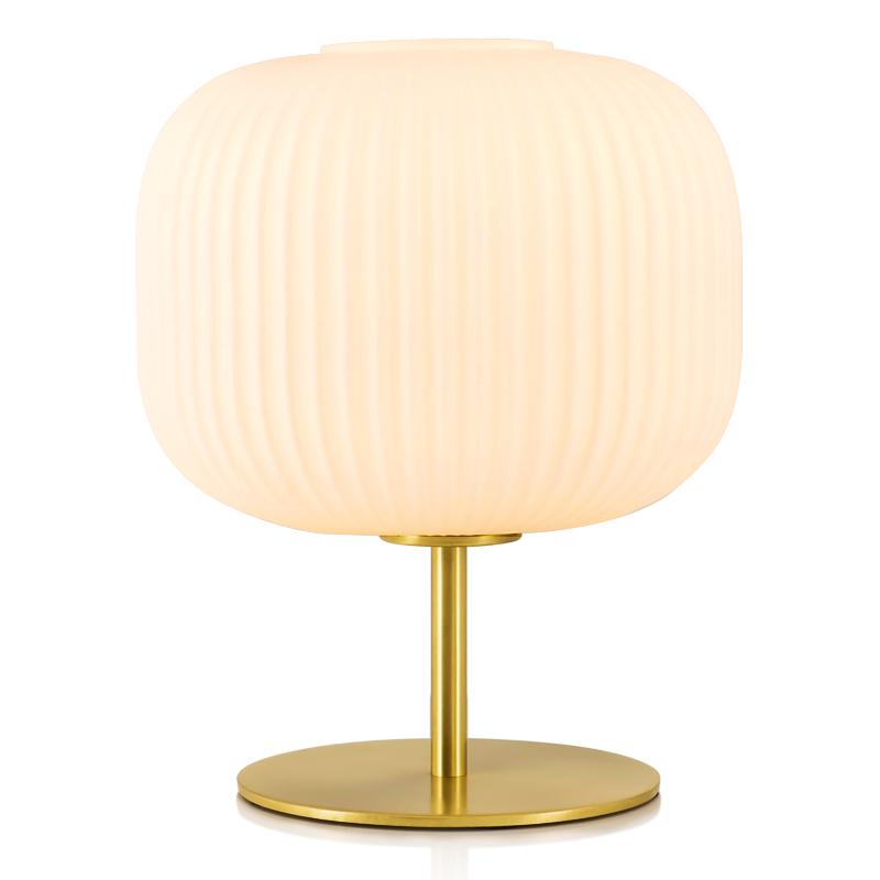北欧轻奢台灯卧室简约现代创意美式客厅装饰灯日式温馨玻璃床头灯